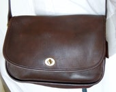 Coach Leather Bag - Vintage and brown