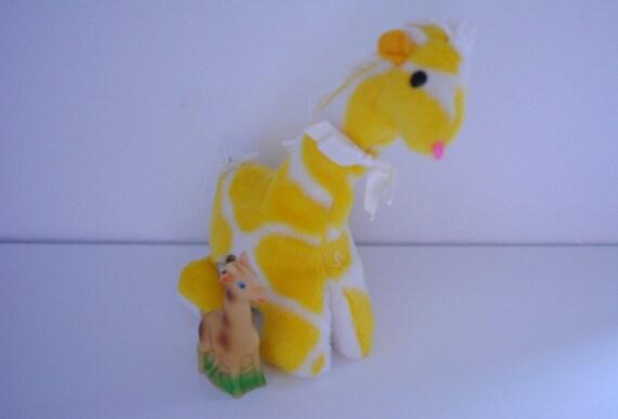 vintage musical wind up plush giraffe eden by missmyrtlevintage