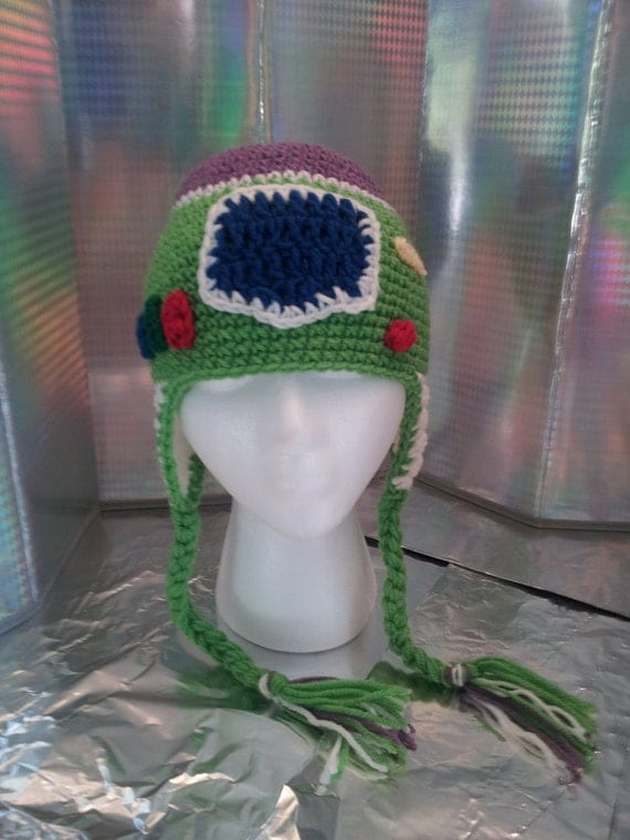 Items similar to Crochet Buzz Lightyear Inspired Ear Flap ...
