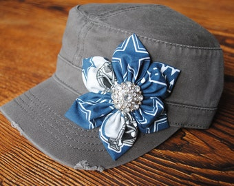 womens hats, Womens Dallas Cowboys Hats, womens gifts Womens Cowboy bling hats cadet hat, Womens Distressed Hats, Military Cadet flower hat.