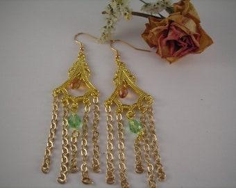 Set 'Midday Brights' - Swarovski Crystal, Elegant, Victorian, Dangle Earrings