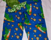 Surfing alligators and fish flannel pj pants (size 2)