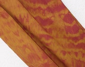 Gold and Pink Cotton Scarf, Batik Scarf, hand dyed, Womens Neck or Head scarf
