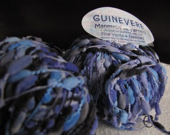 Free Shipping 4 Balls Manetto Hill Guinevere Shades of Blue Purple and Black DK