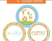 SALE - Jungle Animal Friends - Cupcake Toppers - Printable DIY