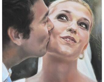Wedding Pastel portrait in Pastel Technique