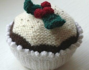 Christmas Cupcake Knitting Pattern