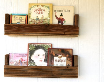 Reclaimed Wood Bookshelves (Set of 2)