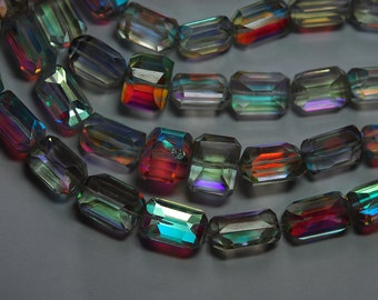 16 Inches Strand,Mystic Rainbow Quartz Feceted Nuggets 13-17mm