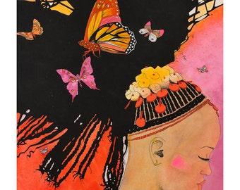 art print of original illustration, Africa