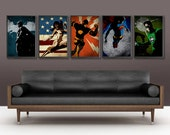 Justice League A3 Poster Set of 5 for 50 Dollars