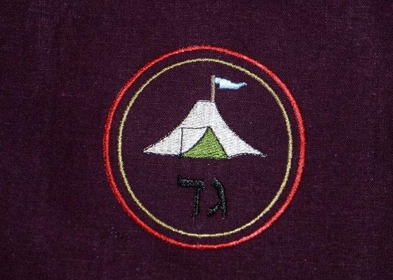 Tribe of Gad Purple Linen Banner