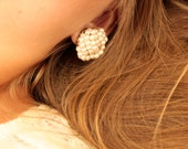 Vintage Pearl Cluster Earrings