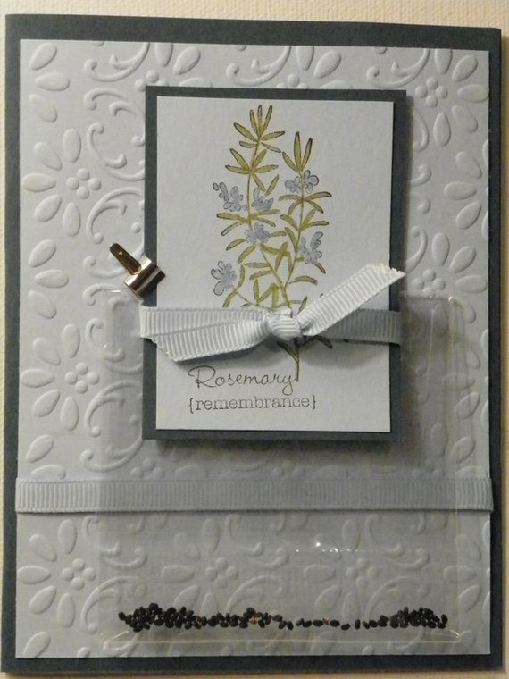 Rosemary Seed Handcrafted and Stamped Giftcard