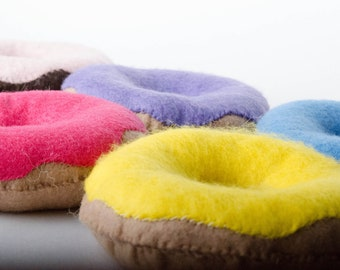 Frosted Donut - Felt Play Food