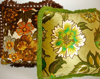 Retro Flower Pillows