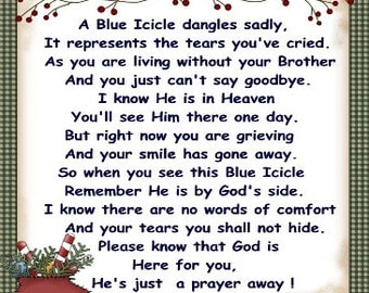 In Loving Memory of Brother Blue Icicle Ornament
