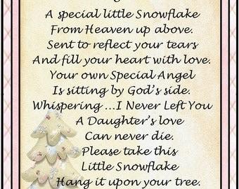 In Loving Memory of Daughter Snowflake Ornament