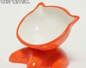 Flame Orange Meowchow Bowl