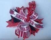 Arkansas Razorback hair bows. Are you ready for some Razorback football, you will be not only stylish but also supporting our favorite team