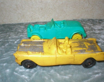 2 - 1950's Auburn Rubber Toy Cars