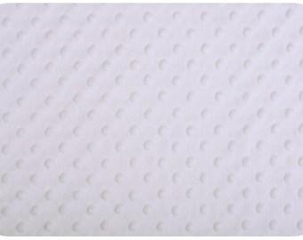 White Cuddle Minky Fabric - 1 yard