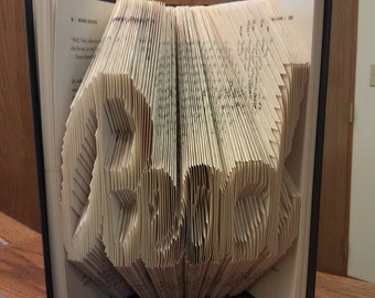 "Folded Book Art ""Read"" - Made to Order"