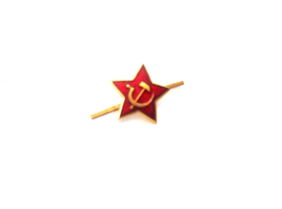 Soviet Army Hat Badge USSR Russian Army Military Pin Small Red Star badge Russian Pilotka insignia