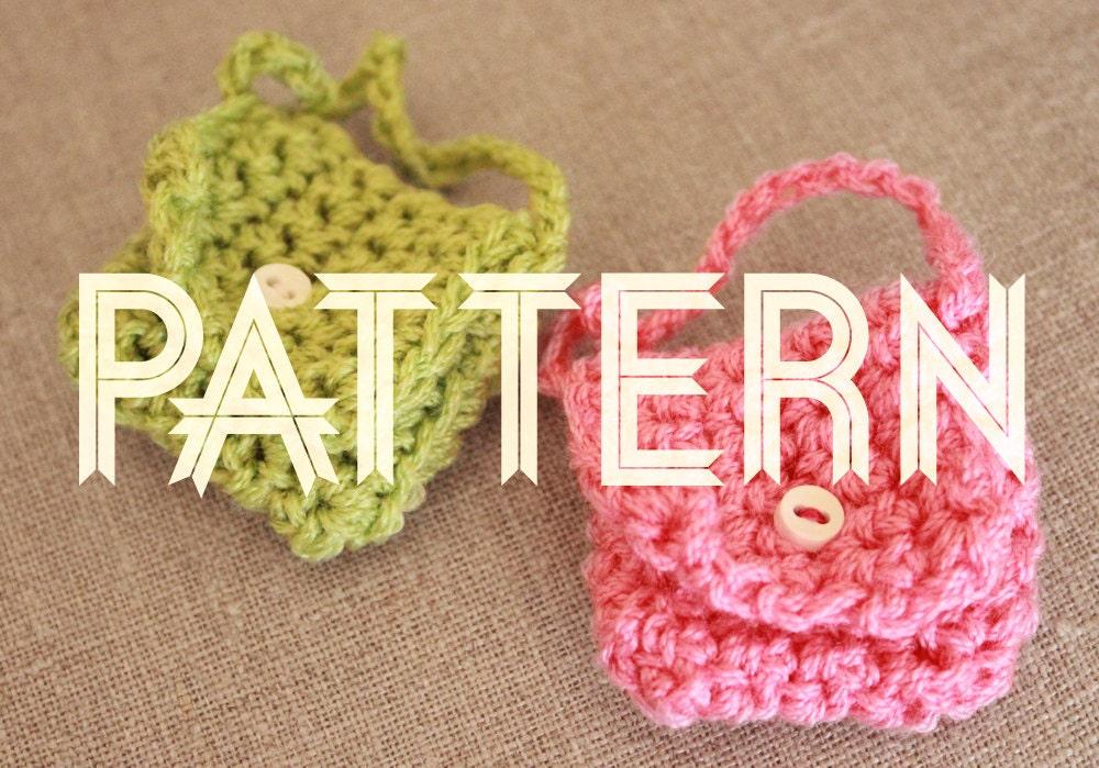Crochet Patterns Key : Crocheted Miniature Key Chain Purse PATTERN by LadyLionCo ...