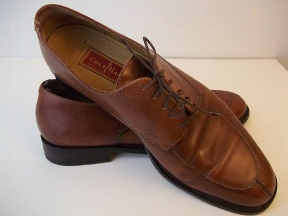 vintage cole haan mens chestnut dress shoes by