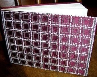 paper supplies ... Burgundy BEADED SILK JOURNAL ...