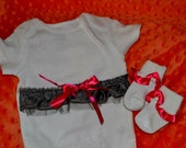 Onesie and socks with a hooded towel gift set