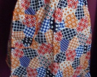 1970s Unused Orange Patchwork Pinny (694)