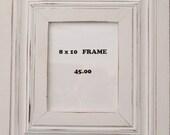 "Distressed Portrait Frame, White 8"" x10"""
