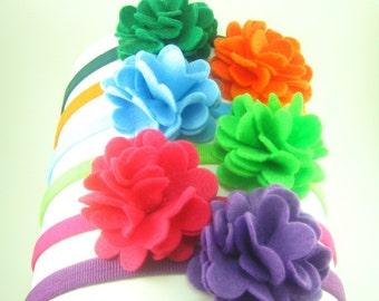 Baby Girl Felt Flower Headband.Baby Girl Headband.Flower Headband.Baby Flower Headband.Felt Headband.Felt Flower Headband.Eco Felt