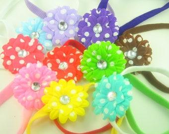 Flower Headband.Daisy Headband.Daisy Baby Headband.Daisy Flower Headband.Newborn Headband.Baby Headband.Toddler Headband.Floral Headband