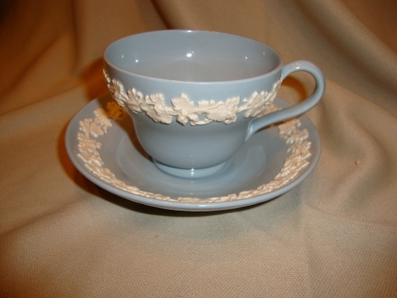 Blue Wedgewood Cup And Saucer 118