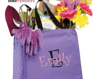 3 Bridesmaid Gift Monogrammed Personalized Tote Bag Wedding Party