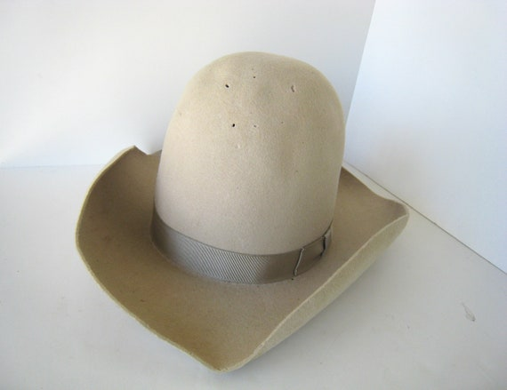 DAMAGED Ten Gallon Haas Cowboy Hat 10 Gallon Cowboy Hat Front