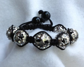 Shamballa bracelet-metal beads
