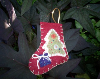 Stocking Ornament - Christmas Tree