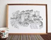 Bear City - a3 print