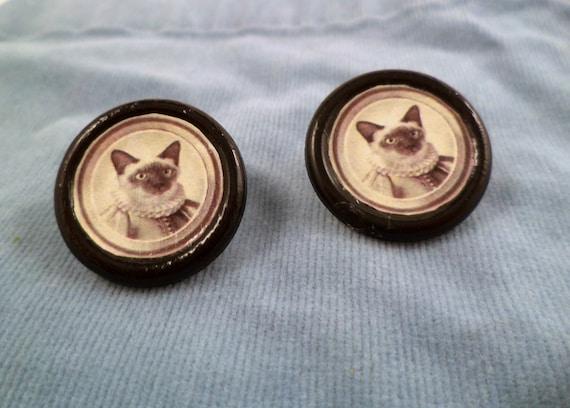 Victorian Cat Earrings
