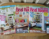 RESERVED FOR LANA G.      100 ideas Real Rooms Magazines lot of 3