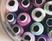 Thread Spools in a Jar - 8 x 10 Fine Art Print
