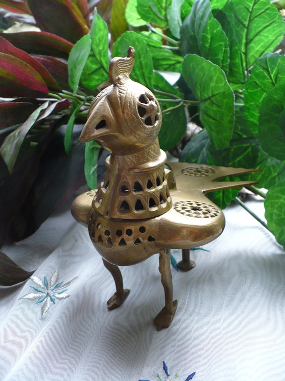 Brass Incense Burner Bird Shaped, Made in India