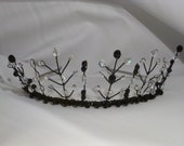 Jezabel - Prom/Wedding Tiara - Black Swarovski Crystal Elemments & Czech crystal tiara. UK handmade