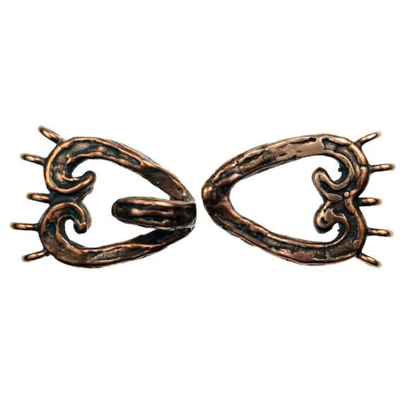 Custom Designed Solid Bronze Necklace or Bracelet Clasp