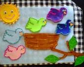 Five Little Birds Felt Board Story