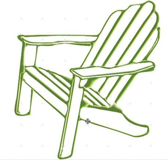 Adirondack chair machine embroidery design --Instant DownloadAdirondack Beach Chair Clip Art